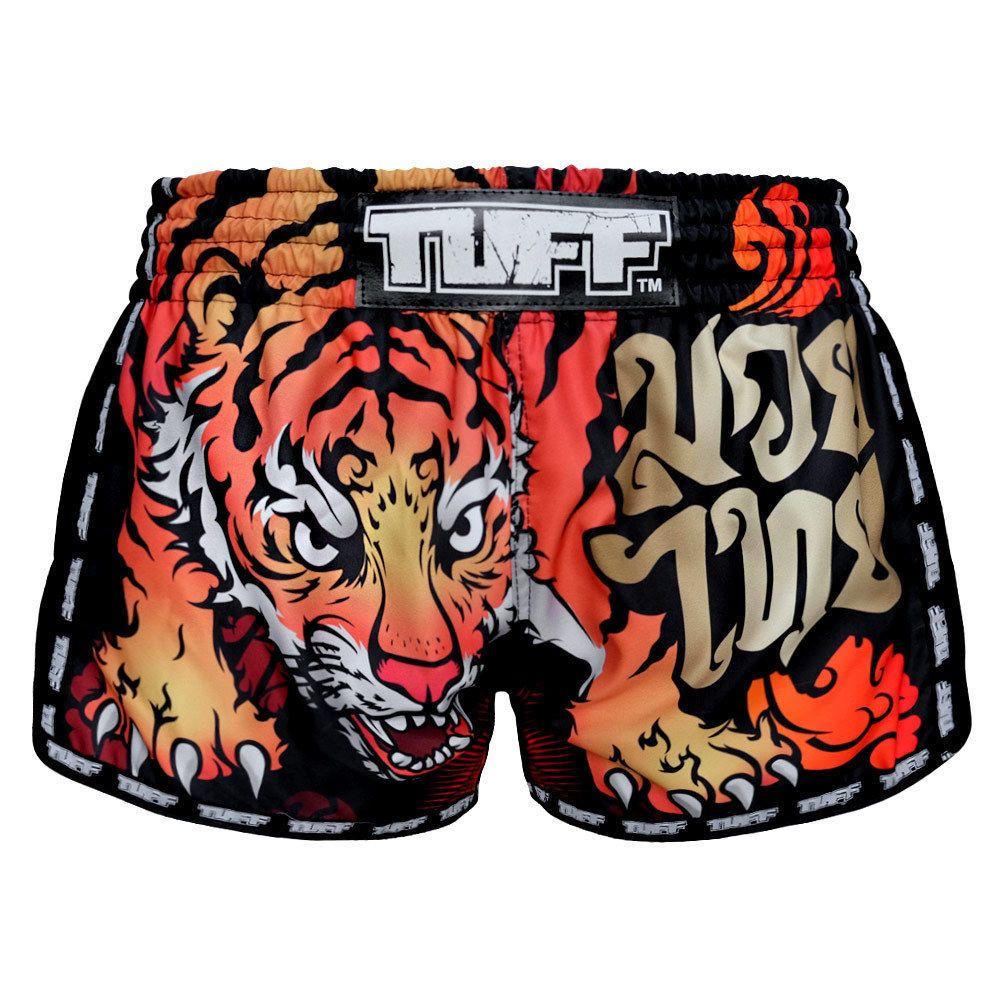 Tiger Black Muay Thai Boxing Shorts Youth Fitness Womens Gym Shorts ...