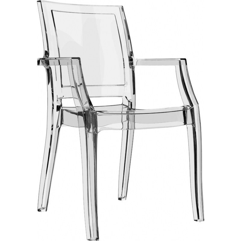 Arthur Transparent Polycarbonate Modern Dining Chair - Clear [ISP053-TCL-CMP]