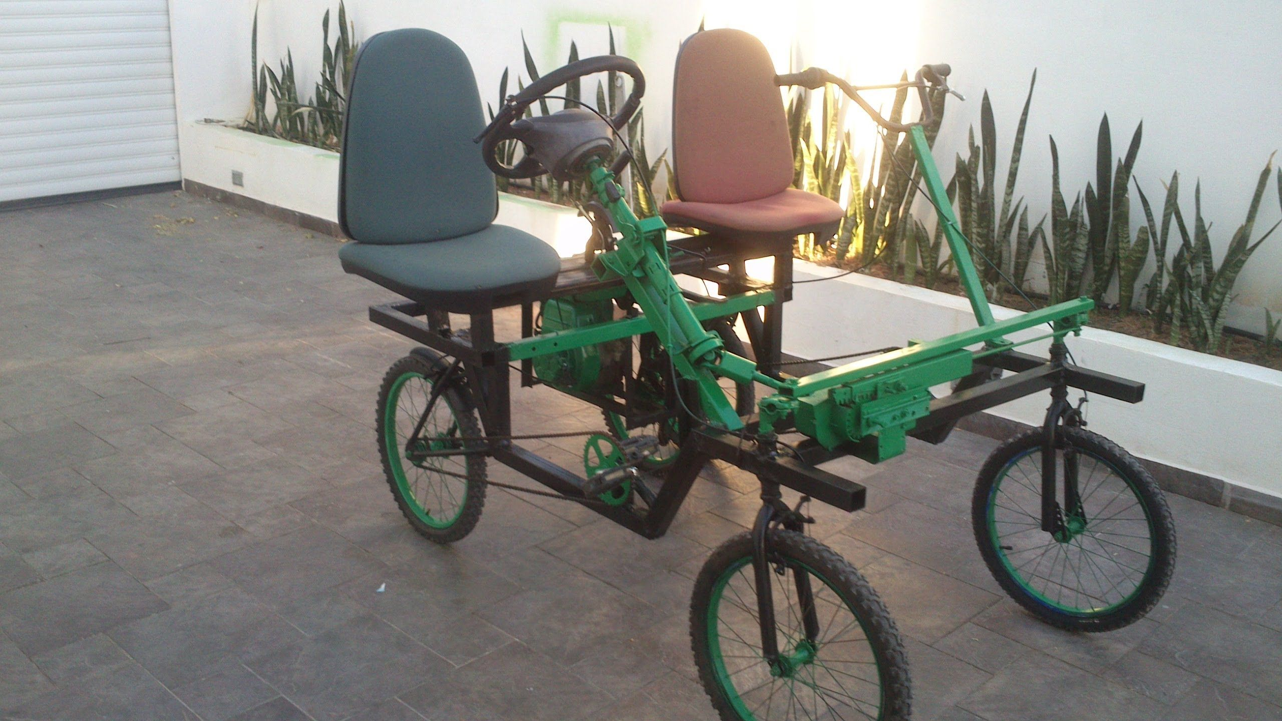 We need to build a quadricycle to pull the utility cart up hills!