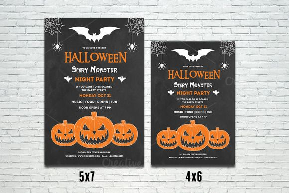 Halloween Party Flyer Template-V400 @creativework247
