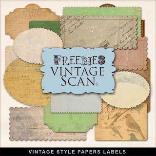 Freebies Kit of Vintage Style Papers Labels