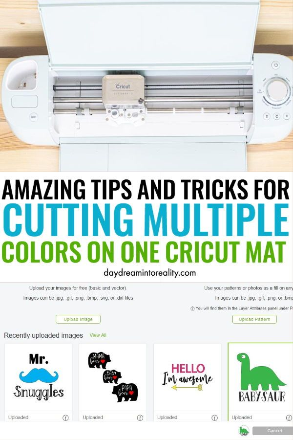 Today, I am going to teach you how to cut multiple colors at the same time on one Cricut mat. Learn step by step and become a PRO with your Cricut. #Cricut #CricutMaker #CricutExplore #Cutting
