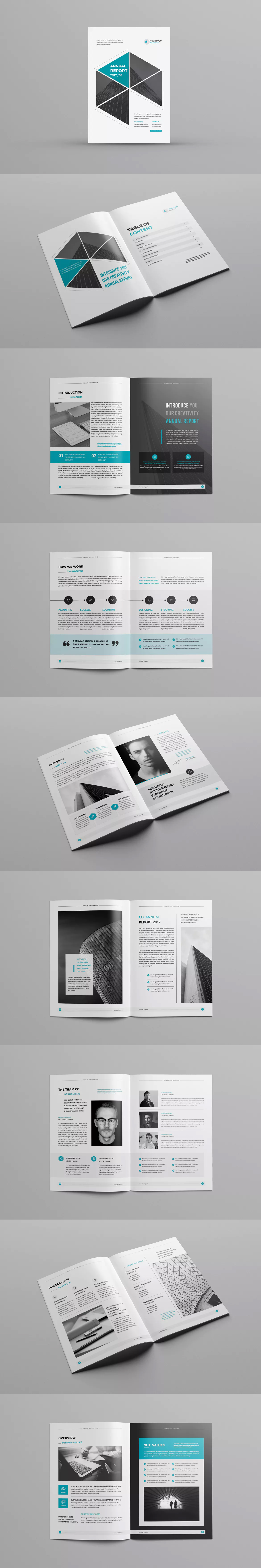 Annual Report Logo Template InDesign INDD - A4 | Annual Report ...