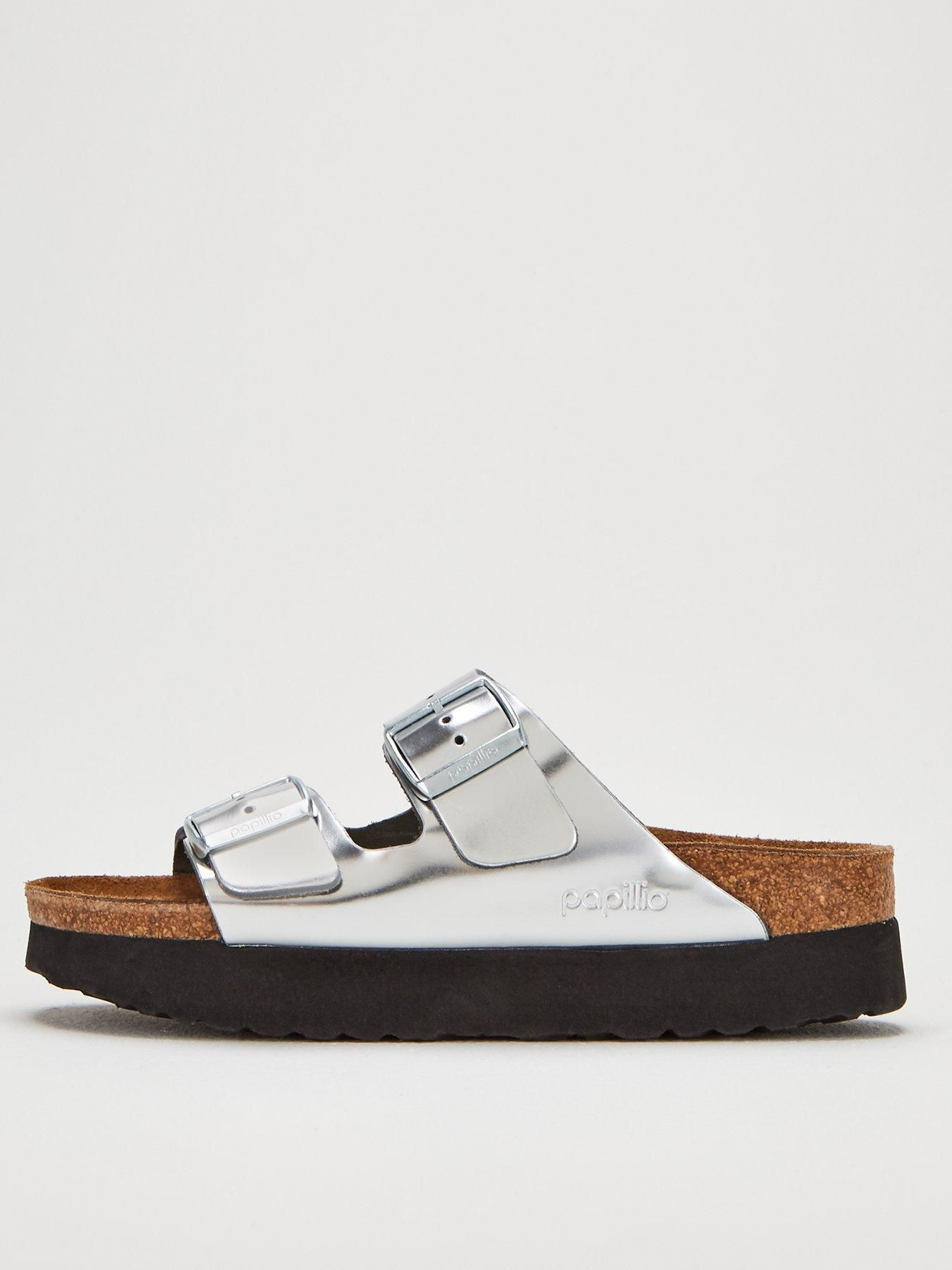 Birkenstock Papillio Arizona Platform Sandals Metallic