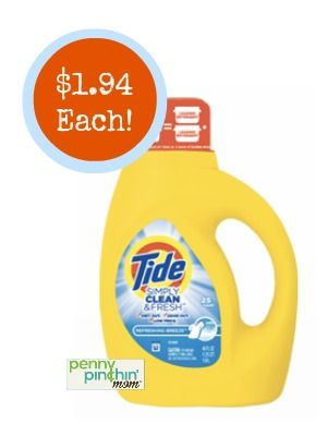 picture regarding Tide Simply Clean Printable Coupons named Tide Quickly New Clean Detergent Exactly $1.94 at CVS (Print