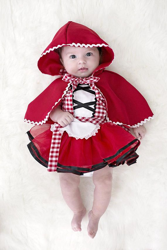 Baby costume, Red Riding Hood costume, baby Red Riding Hood costume