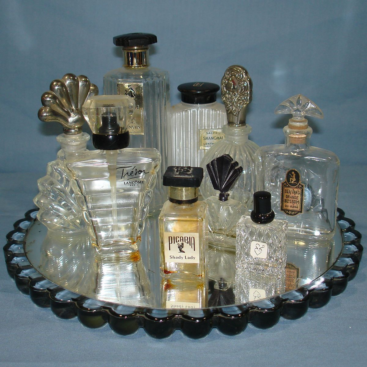 Lot Of 4 Clear Glass Empty Perfume