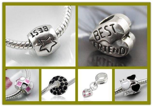 1.5AUD - Au Seller-European Charm Beads Diy Charms Best Friend, Best, Heart 6 Styles #ebay #Fashion