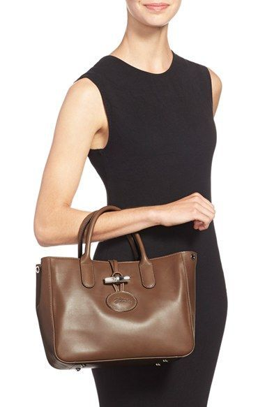 Longchamp 'Roseau Heritage' Leather Tote | Nordstrom | Leather ...