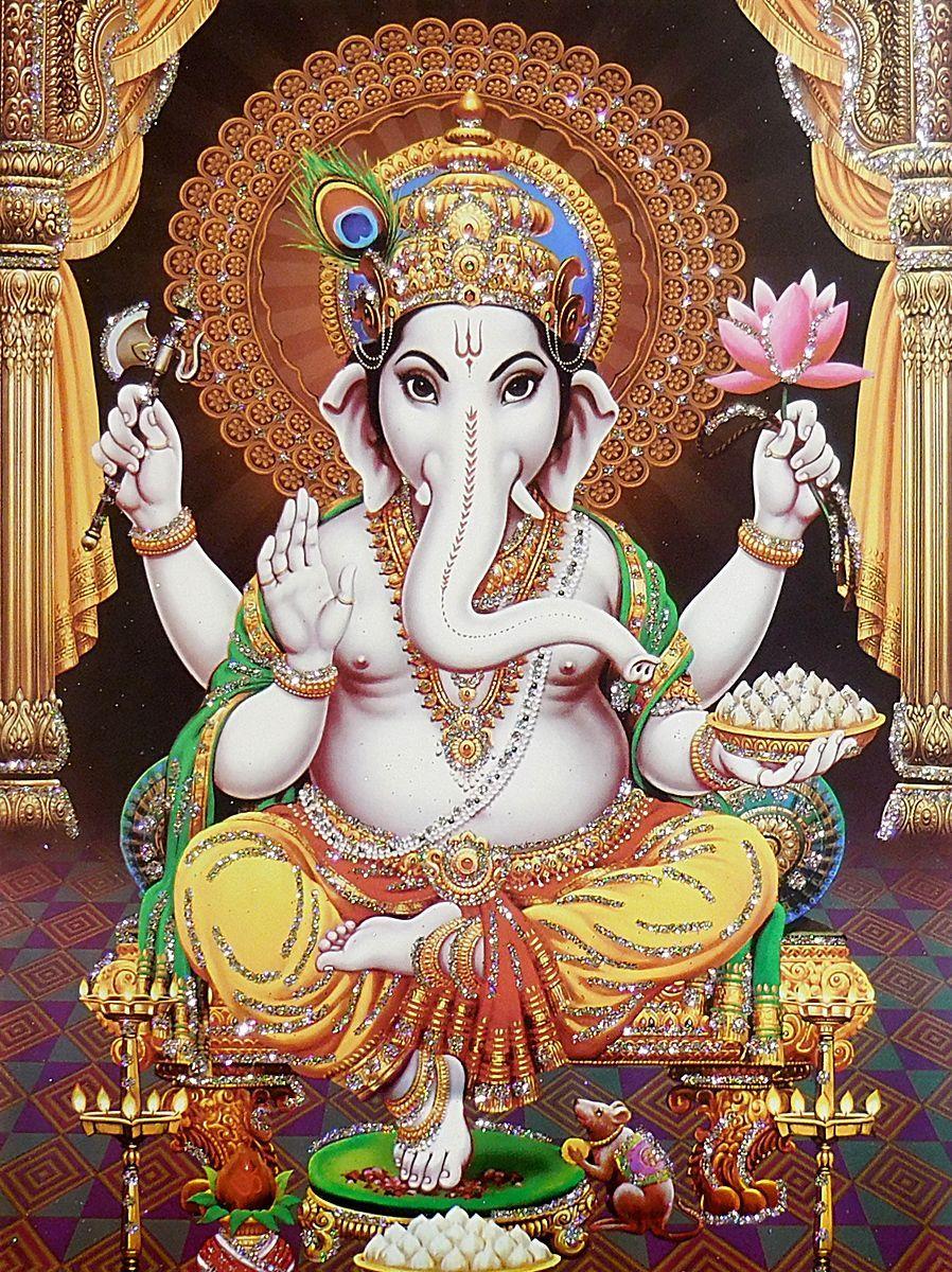 Lord Ganesha Glitter Poster Lord Ganesha Lord Ganesha Paintings Ganesha