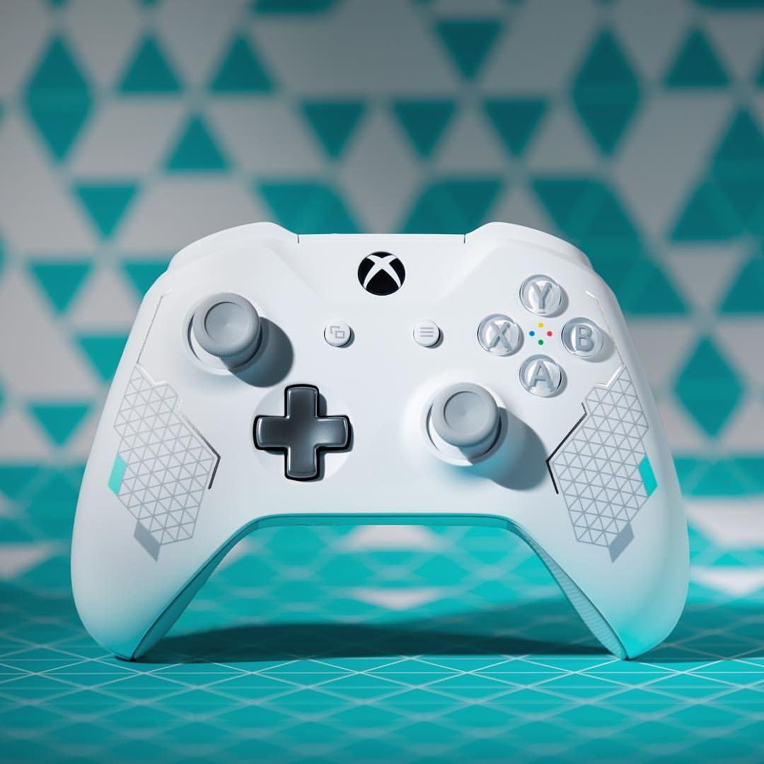 Diamond. Grip. Introducing the Sport White Controller