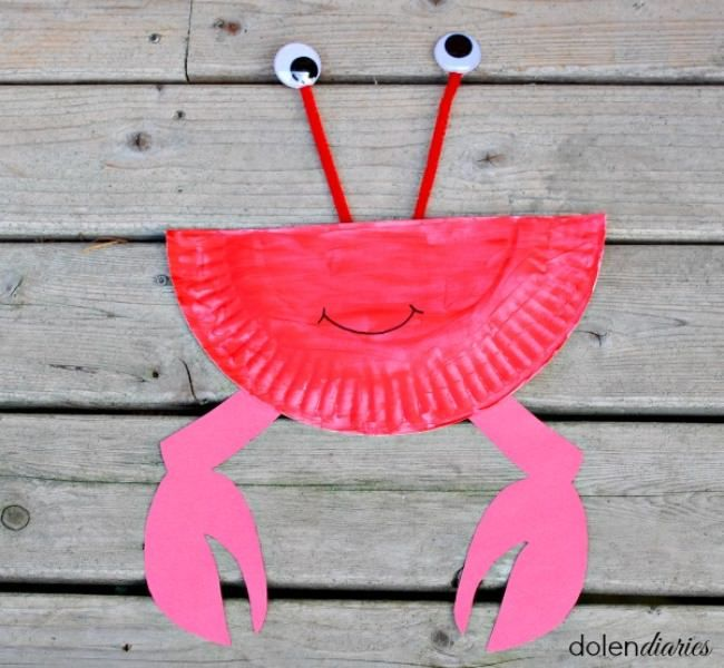 Paper Plate Crab & 29 Paper Plate Crafts for Kids | Paper plate crab Paper plate ...