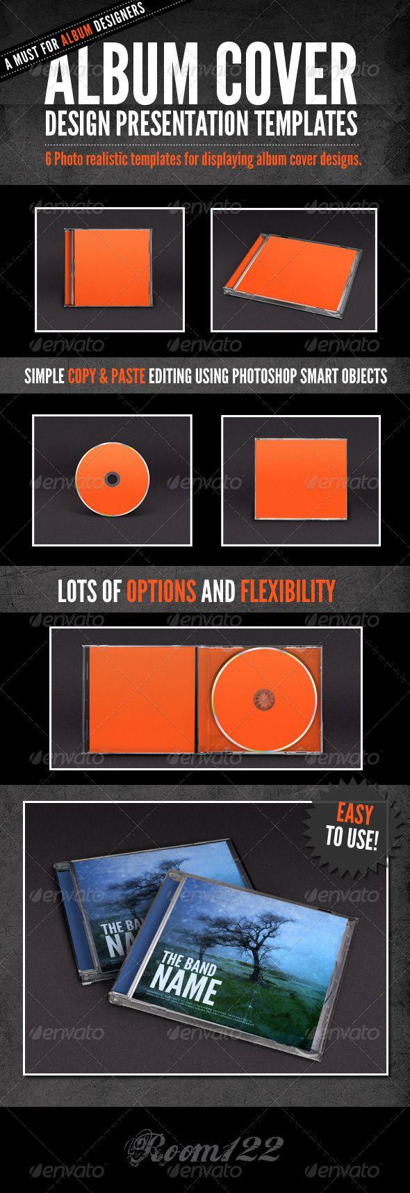 Album Cover - Jewel Case Mock-Ups - Discs Packaging