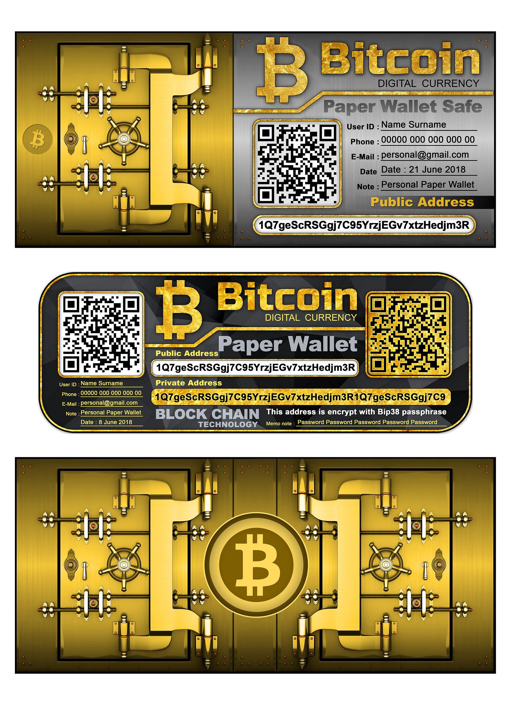 bitcoin gold paper wallet