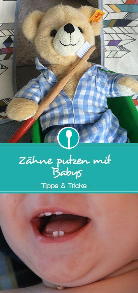 Zähne putzen mit Babys und Kleinkindern | Baby zähne, Baby ...