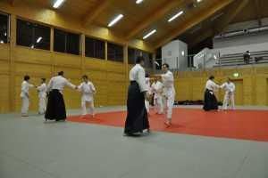 Aikido Wels - Training mit Kyuprüfungen - Budokan Wels, Februar 2012