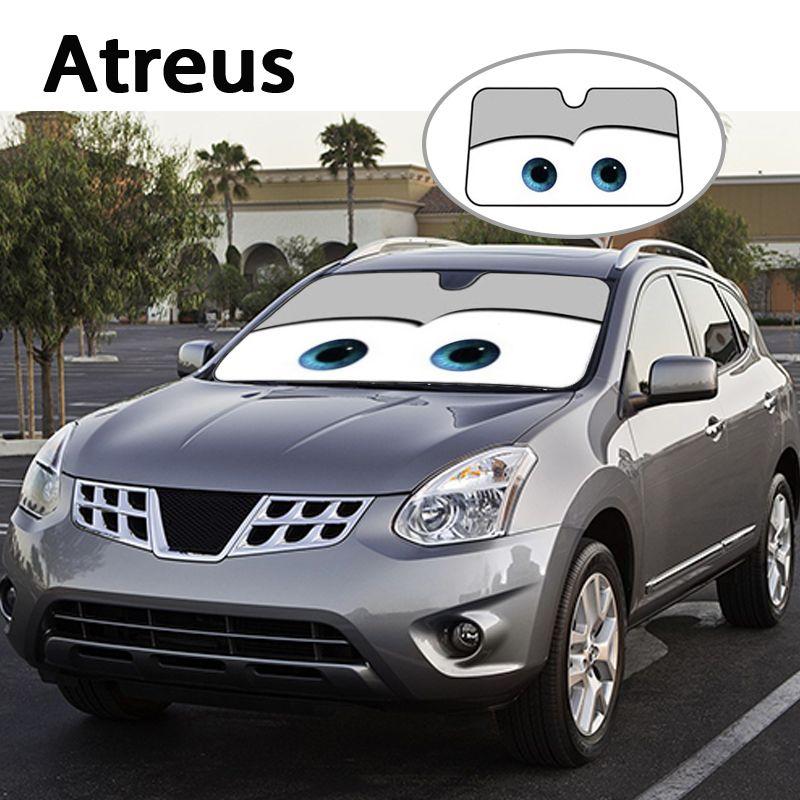 Atreus 1 Unid Historieta Del Coche Parabrisas Cubierta Sol Sombras