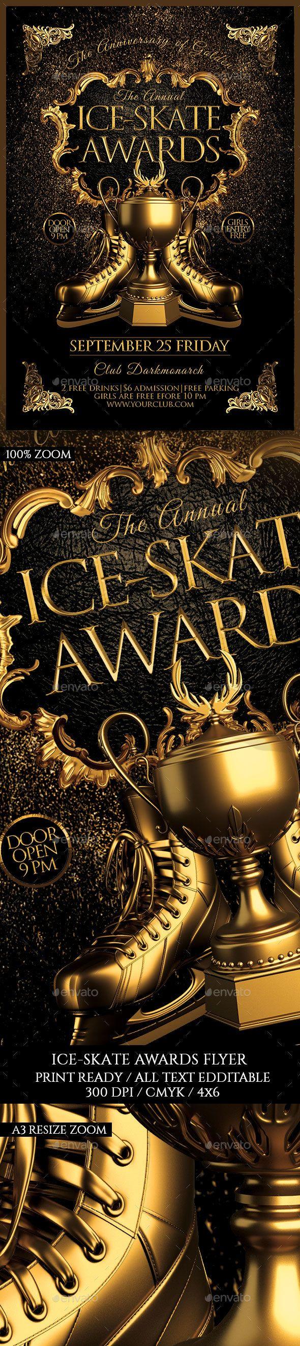 Ice Skate Awards Flyer Template PSD