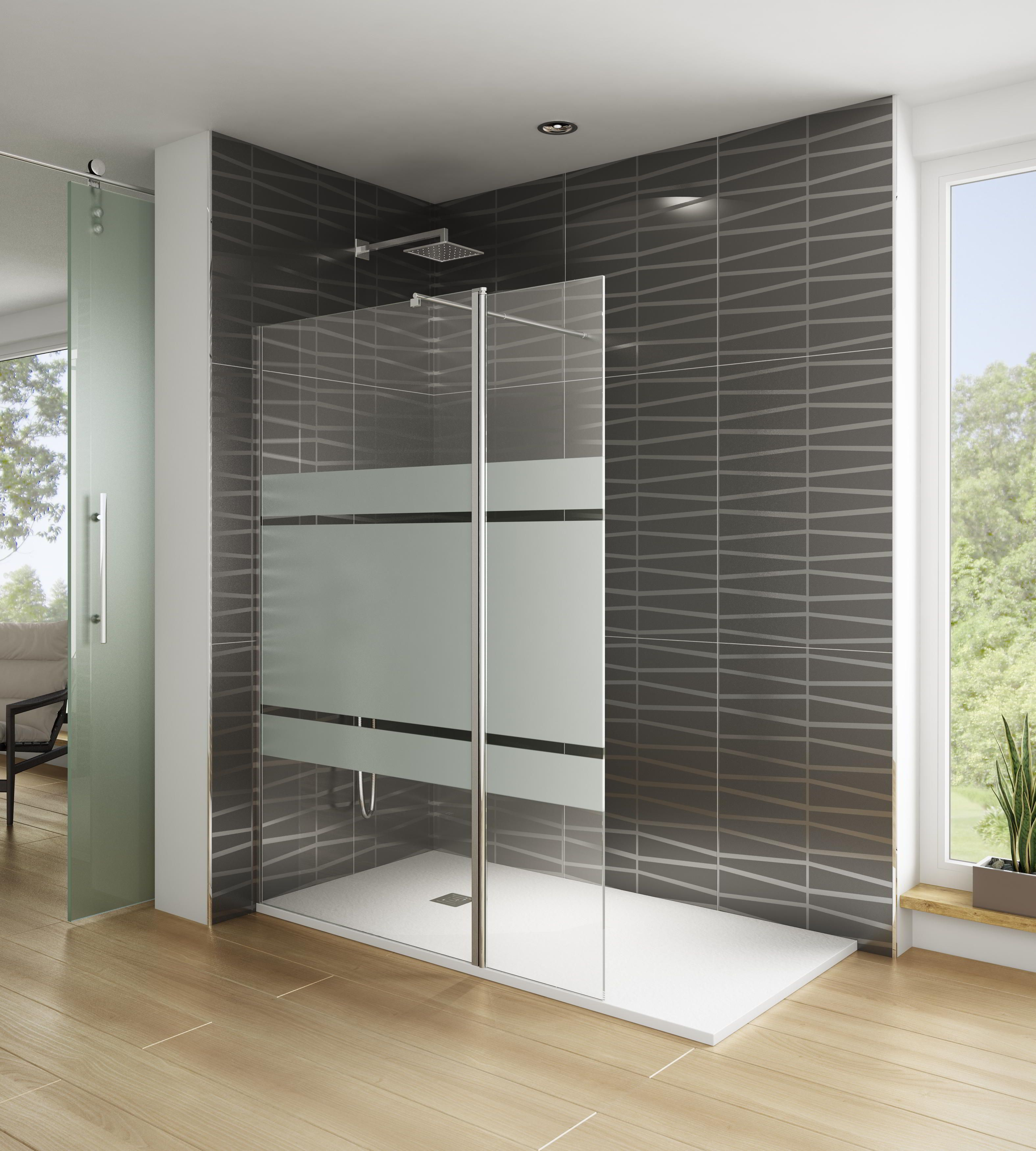 Mampara de ducha modelo screen abatible de 40 cm con - Mampara cristal ducha ...