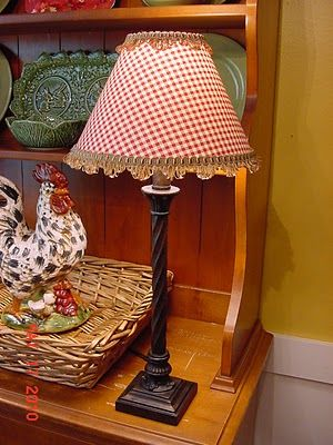 The Happy Homebody Red Decor Country Decor Lamp