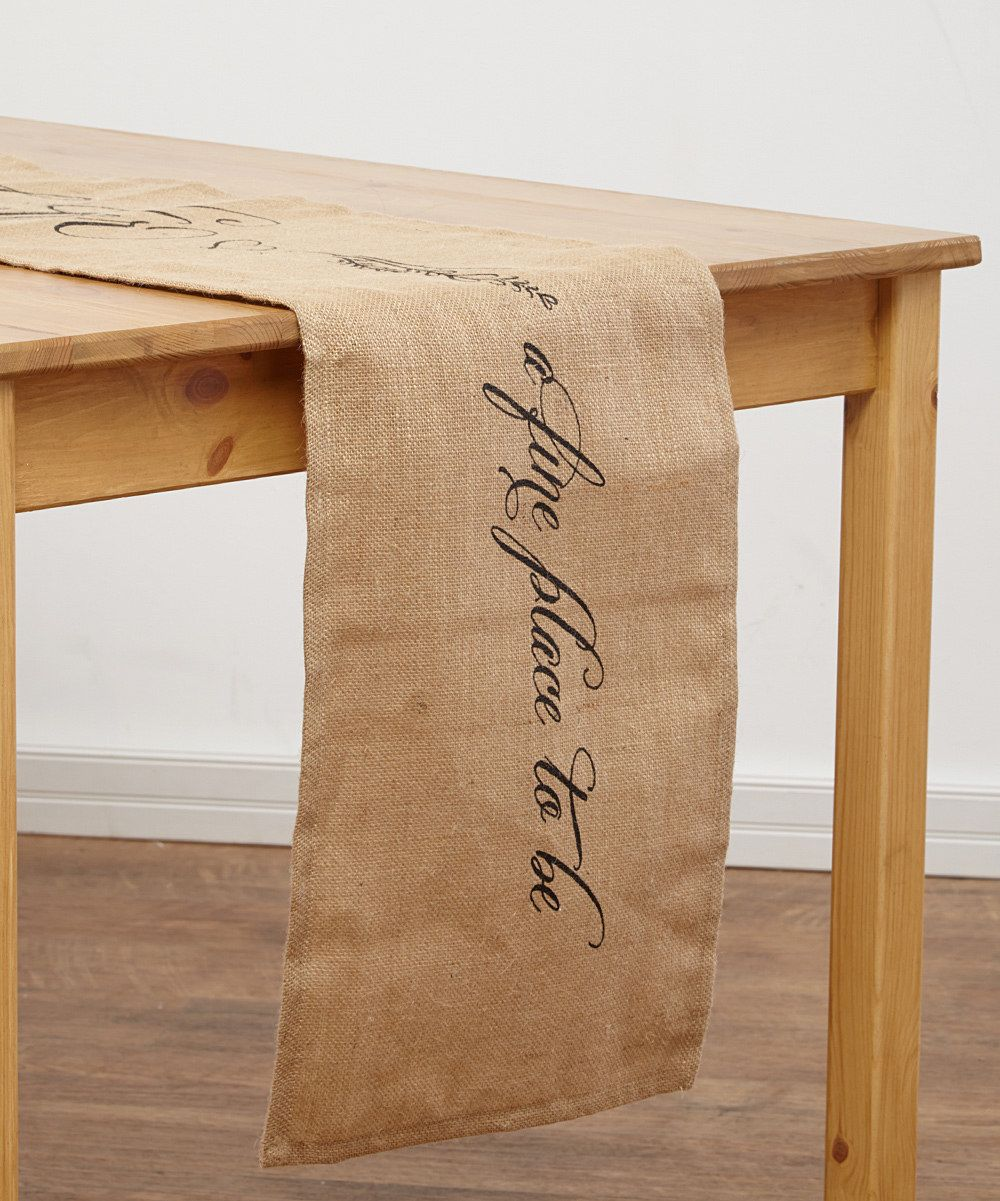 Look at this 'A Fine Place To Be' Jute Table Runner on #zulily today!