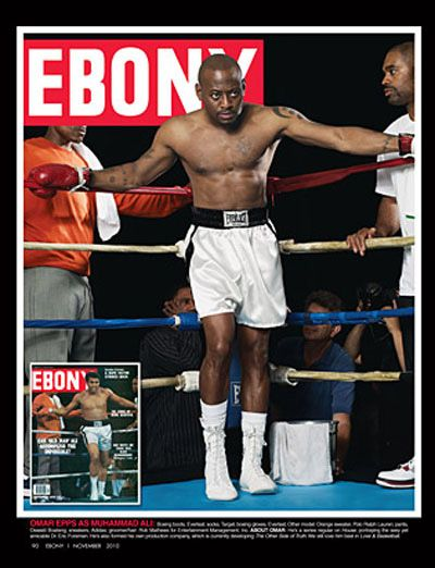 Omar Epps steps in the ring to fly like a butterfly and sting like a bee. #Myblackisbeautiful #style #entertainment @ebonymag