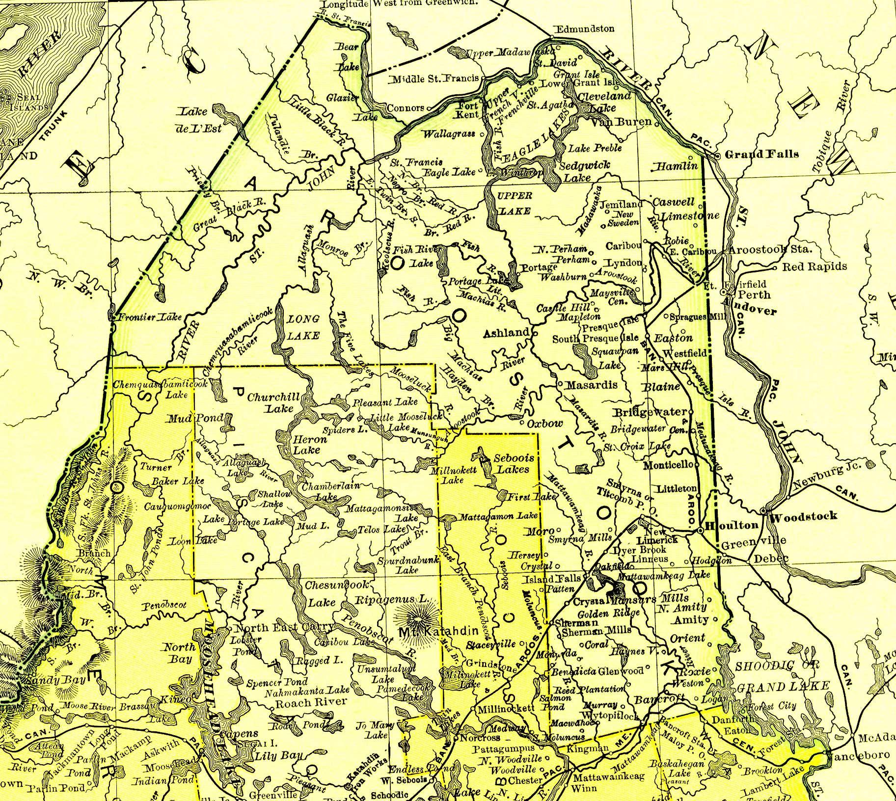 Map Of Aroostook County Maine Maine Pinterest Maine History