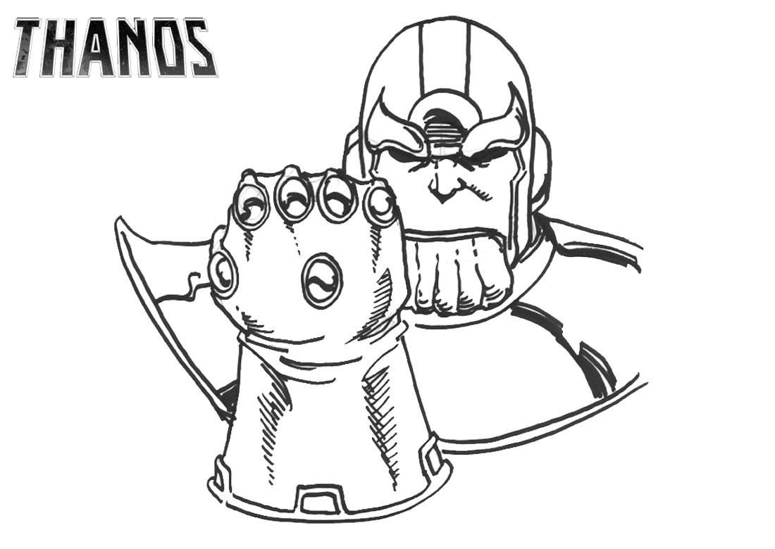 Kleurplaat Fortnite Thanos Printable Thanos Infinity Gauntlet Coloring Pages