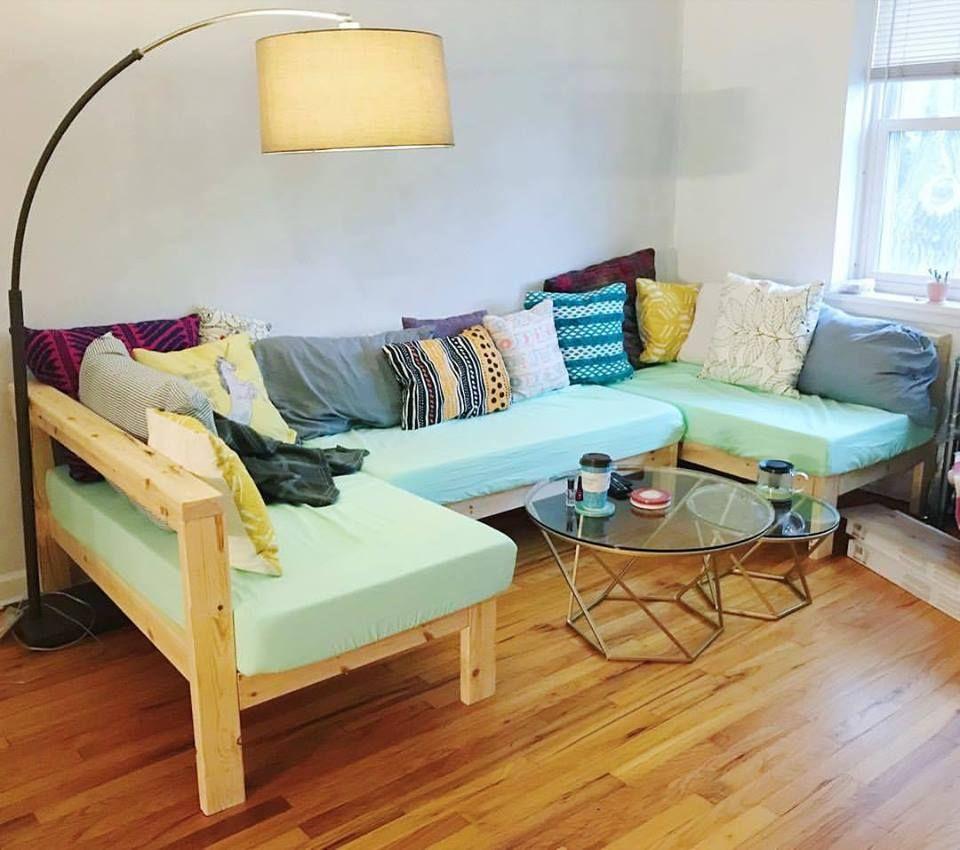 Crib Mattress Sectional Couch Sofa Diy