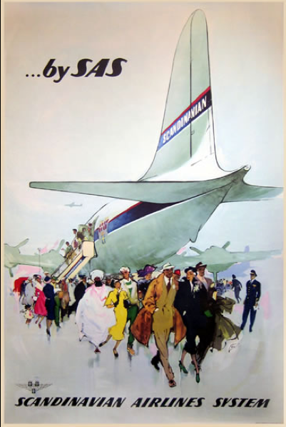 Pin By Jay Findley On Sas Airline Poster Art Vintage Travel Posters Travel Posters Vintage Airline Ads