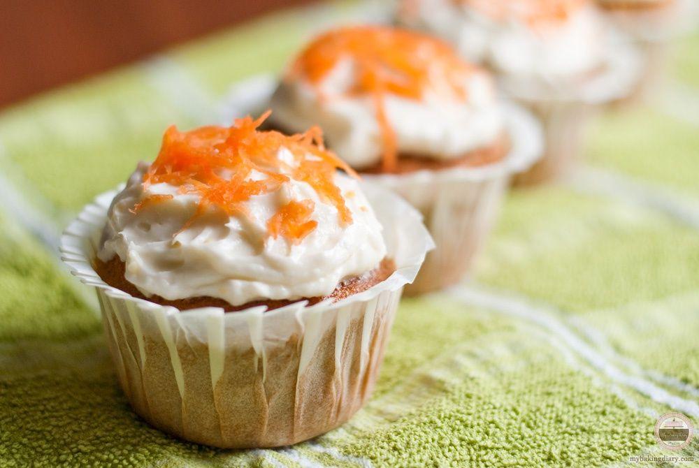 Carrot Cake Cupcakes - My Baking Diary