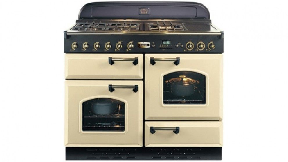 Falcon Classic 110cm Gas Freestanding Cooker - Cream Brass ...