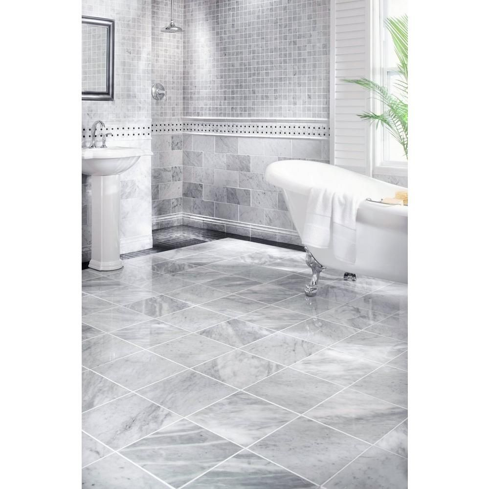Bianco Carrara Marble Tile Floor Decor In 2020 Bathrooms Remodel Bathroom Remodel Master Bathroom Interior Design