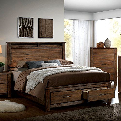 Elkton Oak Finish King Size 6-Piece Bedroom Set 247SHOPAT...