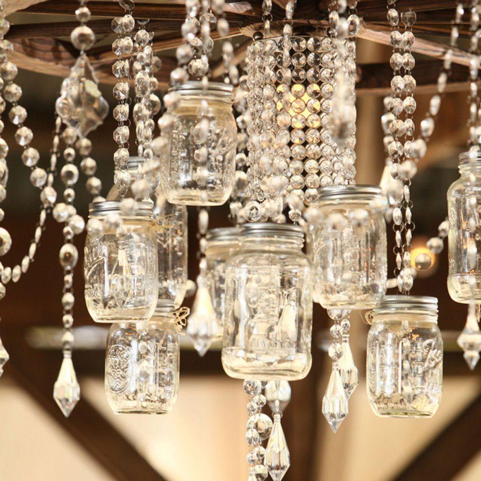 Mason Jar Chandelier: Creative Ways To Light Up Mason Jars