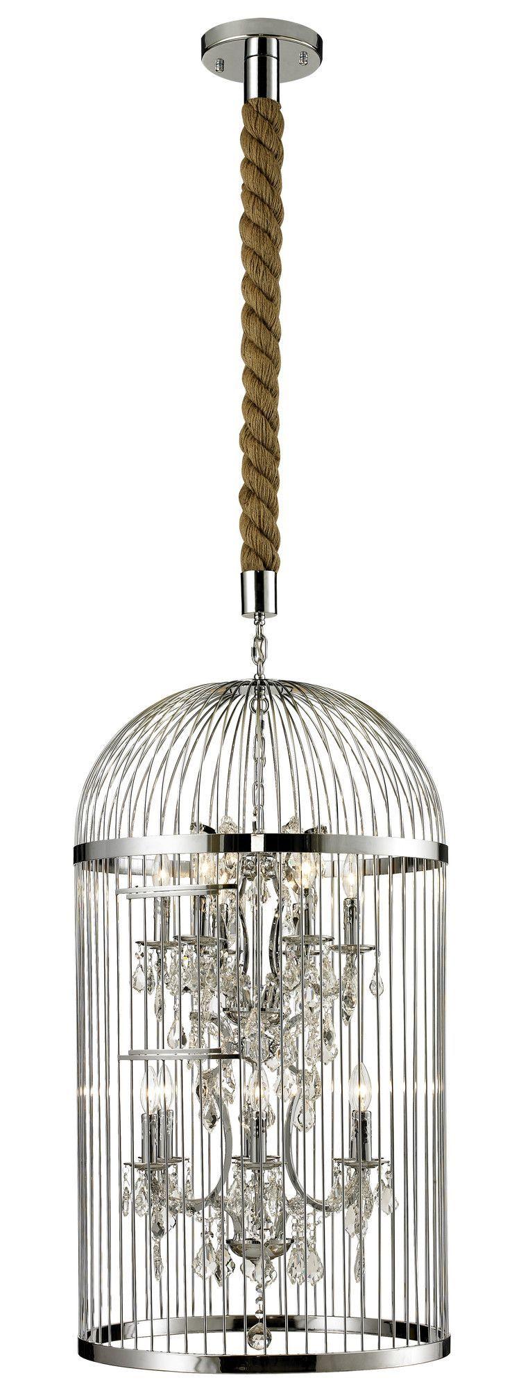 Vintage Birdcage Chandelier Lampadari, Vintage