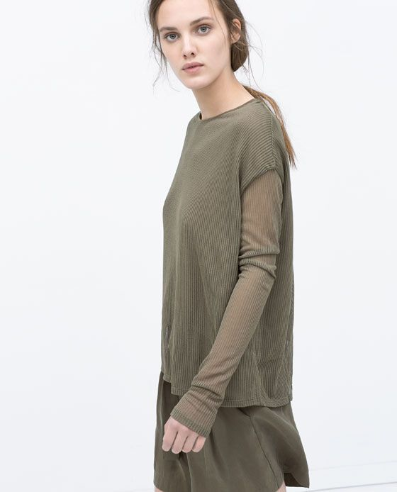 image 1 of double layer t shirt from zara i n t i m a t. Black Bedroom Furniture Sets. Home Design Ideas