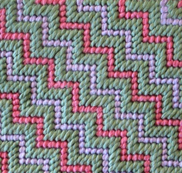 New to Needlepointing? Try These 56 Needlepoint Stitch Tutorials: Jacquard Stitch
