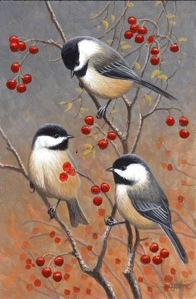 Christmas Acrylic Painting 8 Birds Painting Bird Drawings Canvas Painting