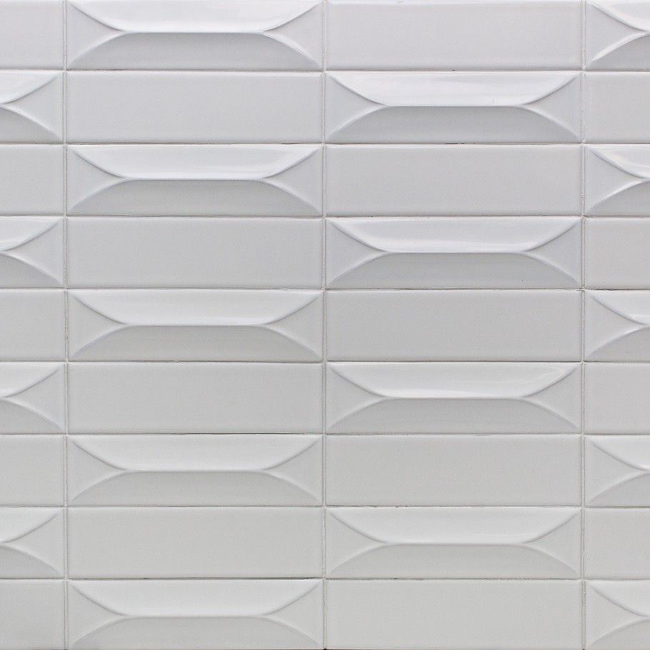 excellent dimensions of subway tile. Byzantine Bianco 3D Ceramic Subway Tile  Unique Sizes