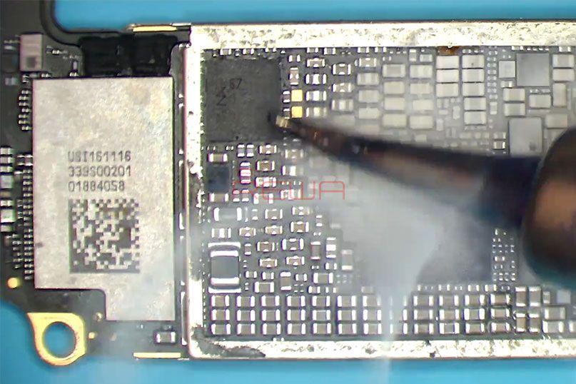 Find The Faulty Component With Rosin Iphone 7 Plus Won T Turn On Repair Iphone 7 Plus Phone Solutions Iphone 7