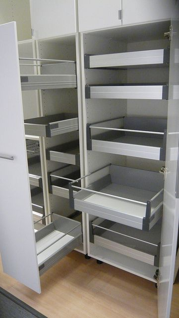 Pull Out And Interior Drawers Pantry Options In 2020