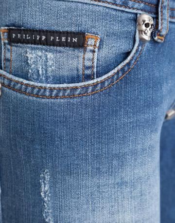Luxury Jeans for Women by Philipp Plein: Slim Fit, Straight Cut, Boyfriend Fashion Luxury Denim on Sale, Outlet | Cream della Cream