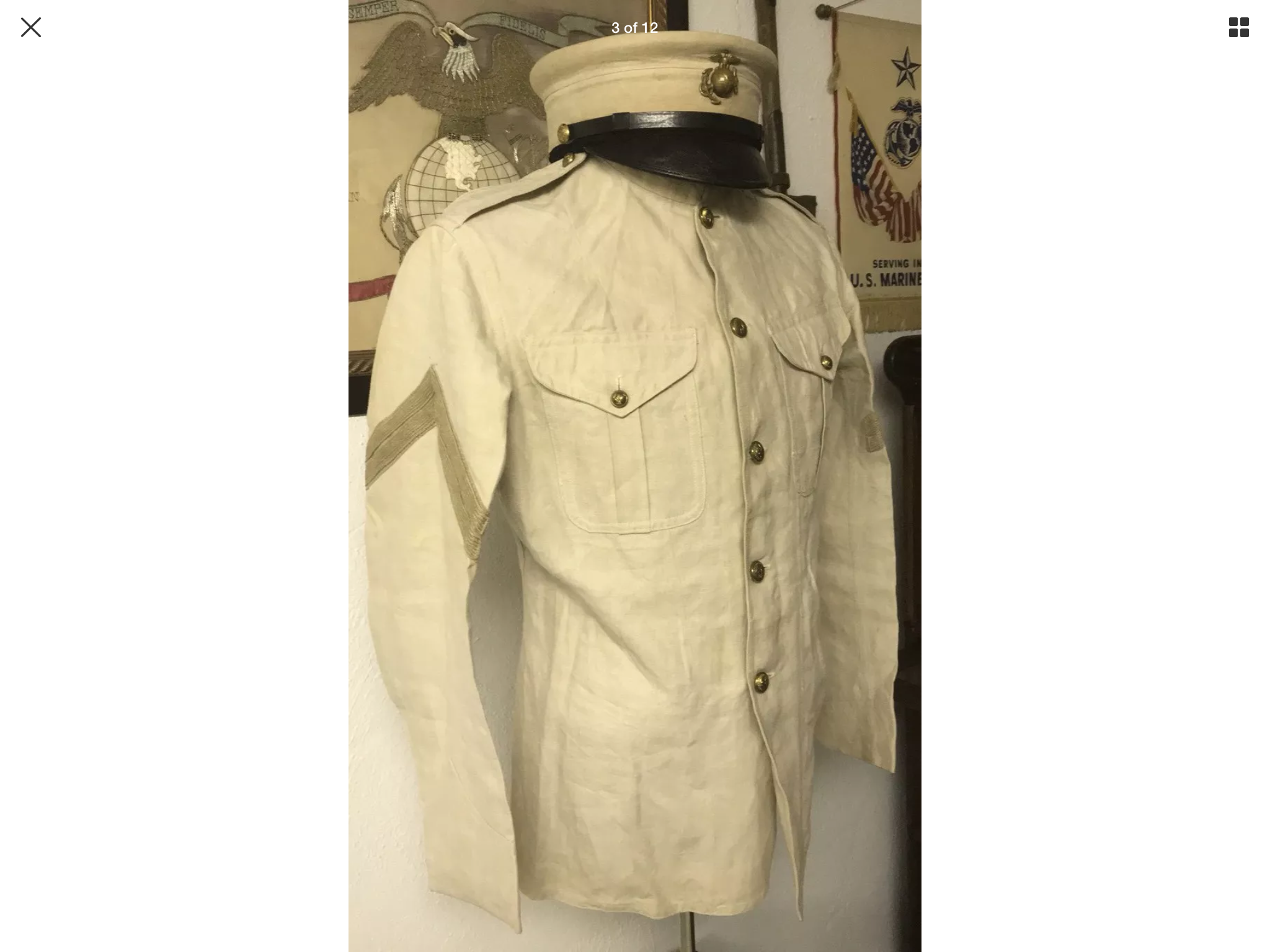 USMC Pre 1912 Corporal 's Summer Service Uniform | Marine