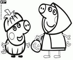 Resultado De Imagen Para Dibujos De Animales De Peppa Pig Para Colorear Halloween Para Colorear Dibujos Peppa Peppa Pig Para Imprimir