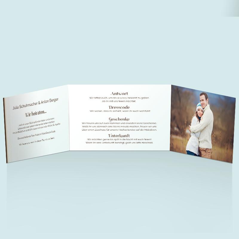 Hochzeitskarten mit Hochzeitslogo Hochzeitseinladung Glück