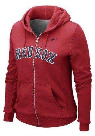 Hoodie Sweatshirts. Nike Boston Womens Red Classic Full Zip Jacket Red Sox  Jacket 3d0b6ab57