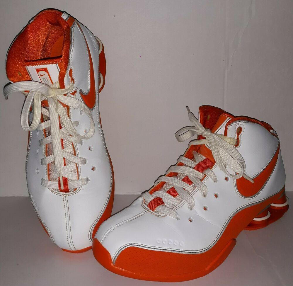 c157c5f656 Mens Size 9 NIKE SHOX ELITE Basketball Shoes Zoom Air White   Orange  Hightops  fashion  clothing  shoes  accessories  mensshoes  athleticshoes  (ebay link)
