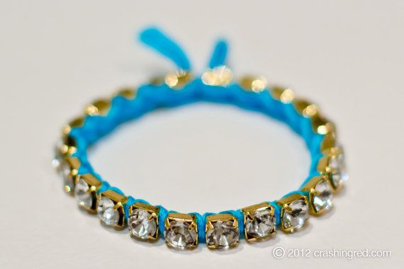 Gold and turquoise rope woven bracelet - perfect addition to your arm party #summer #fashion