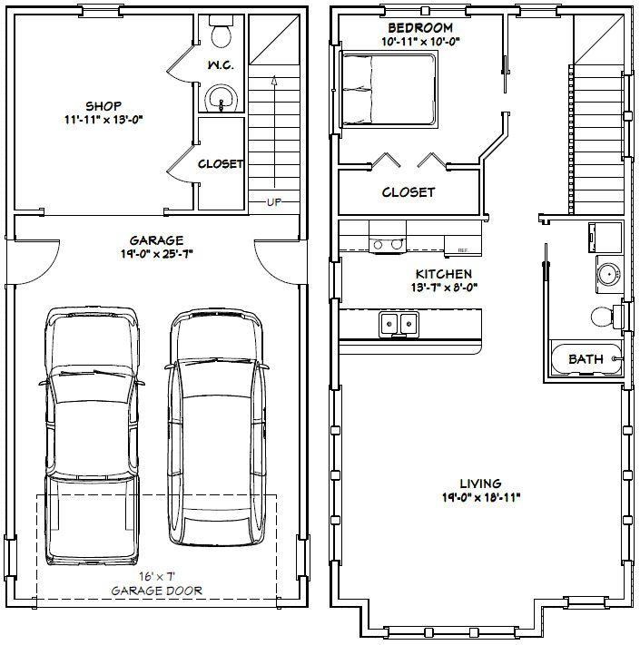 20x40 House 20x40h8c 987 Sq Ft Excellent Floor Plans